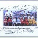 98 FIA WORLD CHAMPIONSHIP SIGNED RP PHOTO  SCHUMACHER +