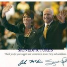 SARAH PALIN AND JOHN McCAIN SIGNED AUTOGRAPHED RP PHOTO