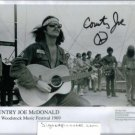 COUNTRY JOE McDONALD SIGNED AUTOGRAPHED RP PROMO PHOTO WOODSTOCK