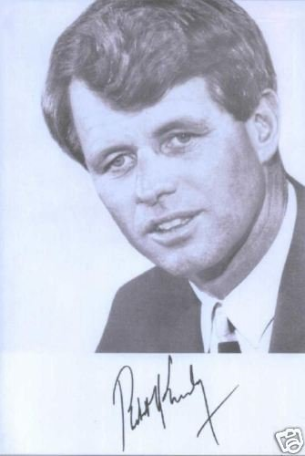 ROBERT F KENNEDY SIGNED AUTOGRAPHED RP PROMO PHOTO 1968
