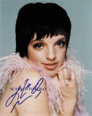 LIZA MINELLI SIGNED AUTOGRAPHED RP PHOTO SO BEAUTIFUL