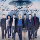 V VISITOR CAST SIGNED RP PHOTO BY 7 MITCHELL BACCARIN +