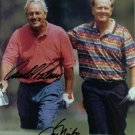 ARNOLD PALMER AND JACK NICKLAUS AUTOGRAPHED 8x10 RP PHOTO GOLF LEGENDS