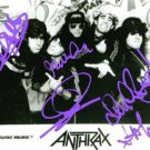 ANTHRAX BAND GROUP AUTOGRAPHED 8x10 RP PUBLICITY PHOTO BY ALL CAUGHT IN A MOSH