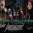 THE AVENGERS CAST SIGNED AUTOGRAPHED RP PHOTO BY 7 STAN LEE JACKSON DOWNEY JOHANSSON RUFFALO