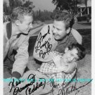 LEAVE IT TO BEAVER CAST SIGNED AUTOGRAPHED 8x10 RP PHOTO MATHERS BANK AND OSMOND
