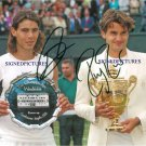 RAFAEL NADAL AND ROGER FEDERER AUTOGRAPHED 8x10 RP PHOTO TENNIS CHAMPIONS
