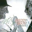 FREDDY KRUGER VS JASON CAST SIGNED AUTOGRAPHED 8x10 RP PHOTO