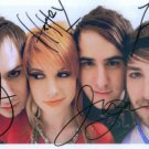 PARAMORE GROUP SIGNED AUTOGRAPHED 8x10 RP HAYLEY WILLIAMS +
