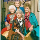 THE GOLDEN GIRLS CAST SIGNED AUTOGRAPHED 8x10 PHOTO BY ALL 4 BETTY WHITE RUE ESTELLE BEA +