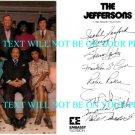 THE JEFFERSONS CAST AUTOGRAPHED 6x8 RP PUBLICITY PHOTO BY 7 SHERMAN HEMSLEY +
