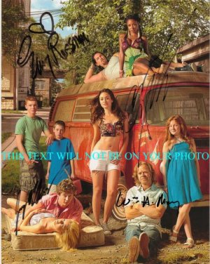 SHAMELESS CAST AUTOGRAPHED 8x10 RP PHOTO EMMY ROSSUM WILLIAM H MACY +