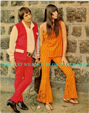 SONNY BONO AND CHER SIGNED AUTOGRAPHED 6x9 RP PHOTO GOT YOU BABE