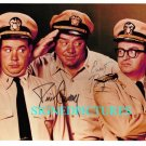 McHALES NAVY CAST AUTOGRAPHED 8x10 RP PHOTO TIM CONWAY AND ERNEST BORGNINE