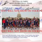 2012 USA OLYMPIC BASKETBALL DREAM TEAM AUTOGRAPHED AUTOGRAM PHOTO LEBRON JAMES KOBE BRYANT CARMELO