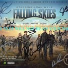 FALLING SKIES CAST AUTOGRAPHED 8x10 RP PHOTO BY 9, NOAH WYLE WILL PATTON +