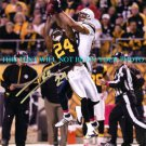 IKE TAYLOR AUTOGRAPHED 8x10 RP PHOTO PITTSBURGH STEELERS