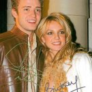 BRITNEY SPEARS AND JUSTIN TIMBERLAKE SIGNED AUTOGRAPHED 8x10 RP PHOTO
