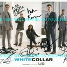 WHITE COLLAR CAST SIGNED AUTOGRAM AUTOGRAPH 8x10 RP PHOTO MATT BOMER TIM DEKAY+