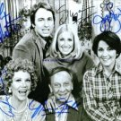 THREES COMPANY CAST SIGNED AUTOGRAPHED 8x10 RP PHOTO 3s ALL 5 ROPERS TOO THREE'S