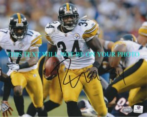 RASHARD MENDENHALL AUTOGRAPHED 8x10 RP PHOTO PITTSBURGH STEELERS RB AWESOME