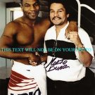 ROBERTO DURAN AUTOGRAPHED 8x10 RP PHOTO with MIKE TYSON