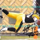 TROY POLAMALU AUTOGRAPHED 8x10 RP PHOTO PITTSBURGH STEELERS  STEELER FOR LIFE