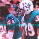 JIM KIICK AND LARRY CSONKA AUTOGRAPHED 8x10 RP PHOTO MIAMI DOLPHINS