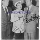 LUCILLE BALL DESI ARNAZ AND BOB HOPE AUTOGRAPHED 8x10 RP PHOTO