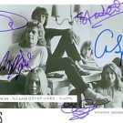 YES GROUP BAND ALL 5 AUTOGRAPHED 8x10 RP PHOTO ROUNDABOUT