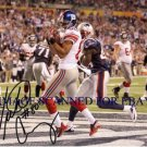 VICTOR CRUZ SIGNED AUTOGRAPHED 8x10 PHOTO NY GIANTS SUPERBOWL TD CATCH