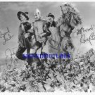 THE WIZARD OF OZ CAST AUTOGRAPHED 8x10 RP PHOTO ALL 4 GARLAND LAHR BOLGER HALEY