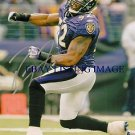 RAY LEWIS AUTOGRAPHED 8x10 RP PHOTO BALTIMORE RAVENS