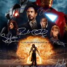 IRON MAN 2 CAST AUTOGRAPHED 8x10 RP PHOTO BY 6 STAN LEE DOWNEY PALTROW ROURKE +
