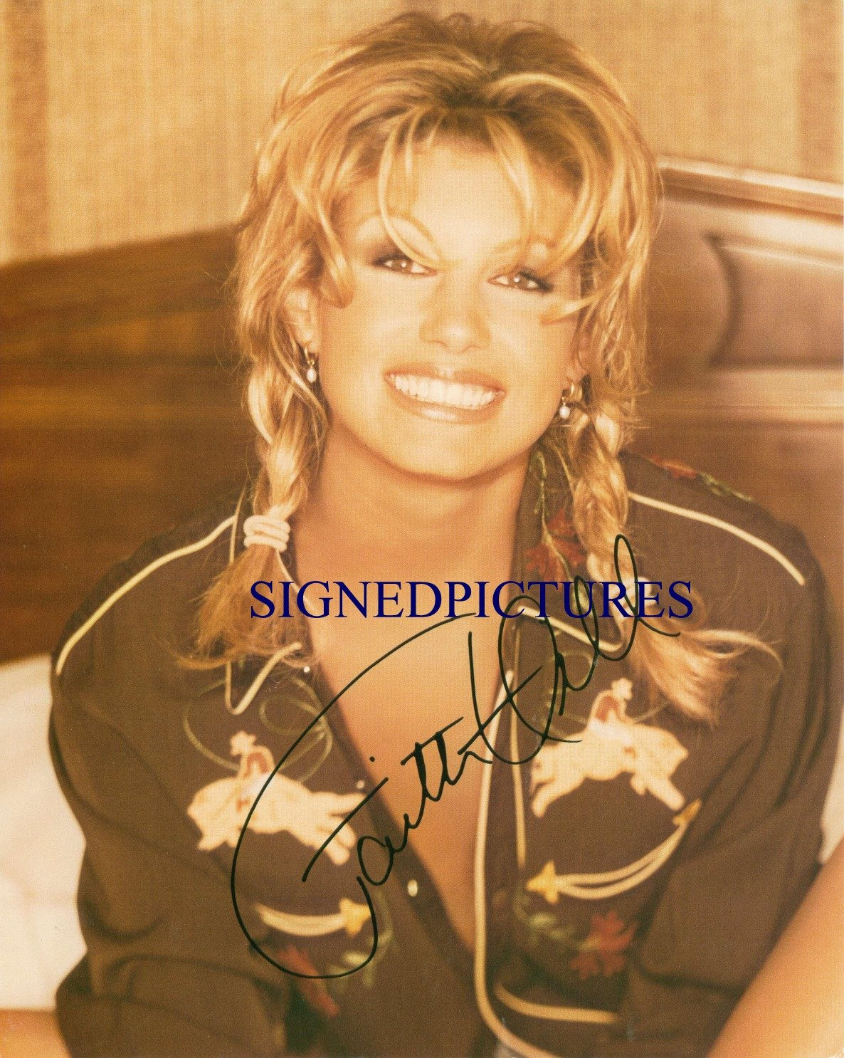 FAITH HILL SIGNED RP PHOTO GREAT COUNTRY SINGER