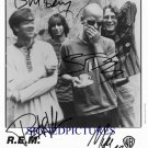 R.E.M. GROUP BAND SIGNED AUTOGRAPHED RP PHOTO REM ALL 4