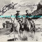LONE RANGER CAST SIGNED AUTOGRAPHED AUTOGRAPH CLAYTON MOORE AND JAY SILVERHEELS RP