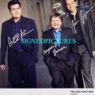 TWO AND A HALF MEN CAST SIGNED RP PHOTO CHARLIE SHEEN +