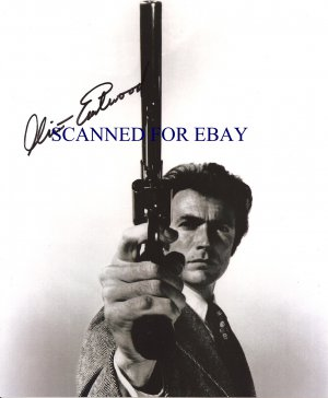 CLINT EASTWOOD SIGNED AUTOGRAPHED RP PHOTO LOOKING COOL