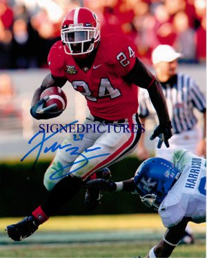KNOWSHON MORENO SIGNED AUTOGRAPHED RP PHOTO BULLDOGS RB