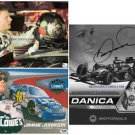 3 NASCAR SIGNED RP PHOTOS DANICA PATRICK DALE JR JIMMY