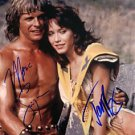 BEASTMASTER CAST AUTOGRAPHED 8x10 RP PHOTO MARC SINGER AND TANYA ROBERTS