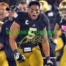 MANTI TE'O AUTOGRAPHED AUTO 8x10 RP PHOTO HEISMAN NOTRE DAME TEO PUMPED UP