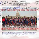 2012 USA DREAM TEAM SIGNED AUTOGRAPHED AUTO 8x10 RP PHOTO BY ALL 13 ANTHONY DAVIS JAMES HARDEN