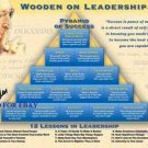 JOHN WOODEN SIGNED AUTOGRAPHED 8x10 PHOTO UCLA PYRAMID OF SUCCESS