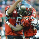 JOSH FREEMAN AND MIKE WILLIAMS AUTOGRAPHED 8x10 RP PHOTO TAMPA BAY BUCCANEERS