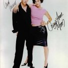 THE MATRIX CAST AUTOGRAPHED 8x10 KEANU REEVES & CARRIE ANNE MOSS