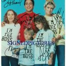 WHO'S THE BOSS CAST AUTOGRAPHED 8x10 RP PHOTO ALYSSA MILANO +