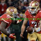 COLIN KAEPERNICK AND FRANK GORE AUTOGRAPHED 8x10 RP PHOTO SAN FRANCISCO 49ers