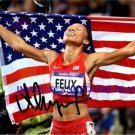 ALLYSON FELIX AUTOGRAPHED 8x10 RP PHOTO OLYMPICS GOLD WINNER TRACK AND FIELD